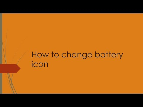 How to change battery Icons