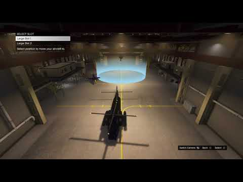Demonstrating aircraft size and space use in the hanger (GTA Online Smugglers Run)