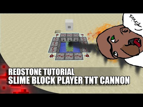 Minecraft: Slime Block Player TNT Cannon! (80 Blocks High!)