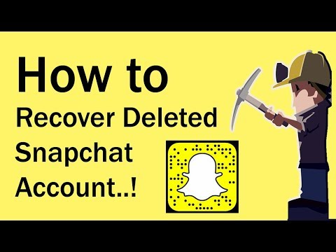 How to Recover Deleted Snapchat Account 2017