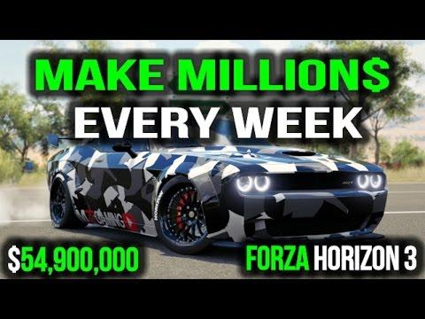 HOW TO MAKE MONEY IN FORZA HORIZON 3