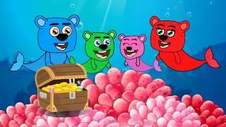 Mega Gummy Bear Baby Left Alone on His Birthday Full Episodes Cartoon Animation