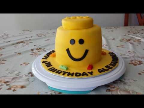Lego Man Head Cake - He kind of looks like Emmet from the Lego Movie