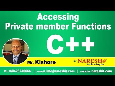 Accessing Private member functions in C++ | C ++ Tutorial | Mr. Kishore