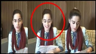 Minal khan Live Video - Reading Questions of Fans - 2018