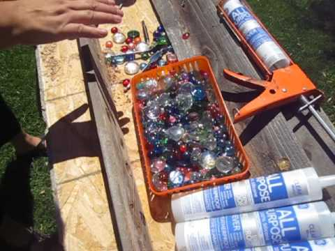 How To Add Glass Marbles to Garden Fence DIY Project
