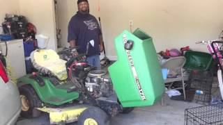 How to bypass seat sensor on john deere mower plus get deck to turn