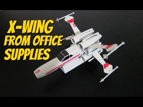 Building X-wing Starfighter and Starship Enterprise from office supplies