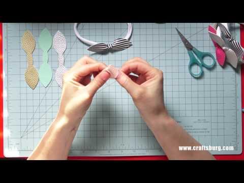 Leather Bow Knit Headband