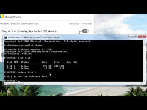 How to set USB Flash Pen Drive to Active Bootable Using diskpart Tool