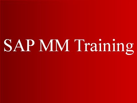 SAP MM Training - Procurement of Stock Materials1 (Video 4) | SAP MM Material Management