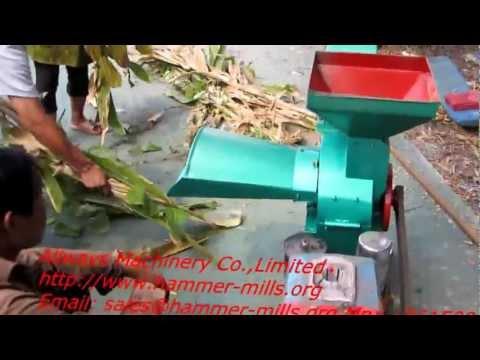 Diesel engine corn stalk cutter chopper machine AWF03B