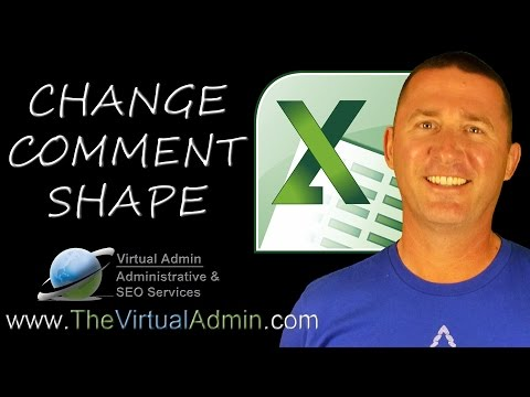 Microsoft Excel - How To Change Comment Shape