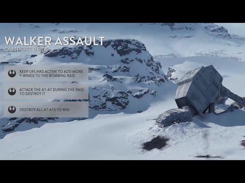 Walker Assault in Star Wars Battlefront Full Round (PS4 Gameplay)