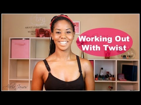 ❊ Quick / Easy Tip ❊ (style) Working Out With Twist, Braids, Locs