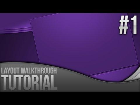 Photoshop Tutorial: Layout Walkthrough - Part 1
