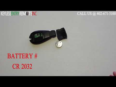How To Replace A Chrysler Town & Country Key Fob Battery 2008 - 2015