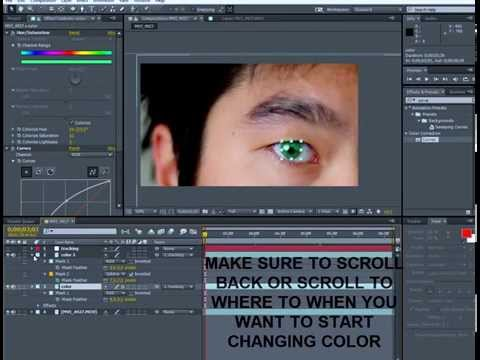 After Effects Tutorial: How Change Eye Color and Animating For Beginners