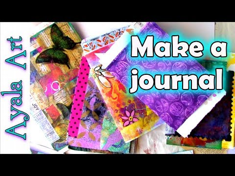 Making a journal for beginners step by step DIY