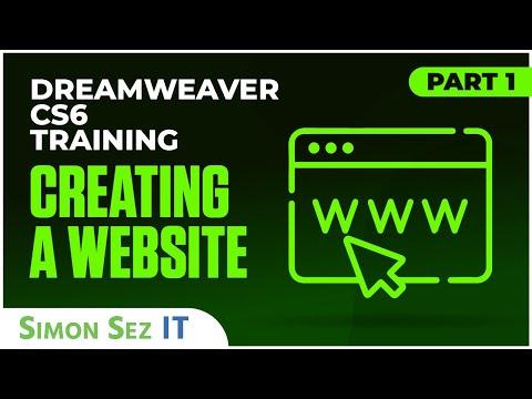 Dreamweaver CS6 Tutorial: Creating a Website  - Part 1