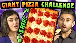 GIANT PIZZA CHALLENGE (3 Feet in 30 Minutes?)