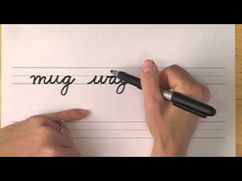 How To Write in Cursive // Lesson 11 // A complete Course // FREE Worksheets