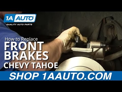 How To Install Replace Front Disc Brake Calipers Chevy Tahoe 92-99 1AAuto.com