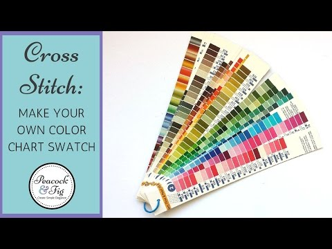 DMC color chart project - make your own embroidery floss chart swatch