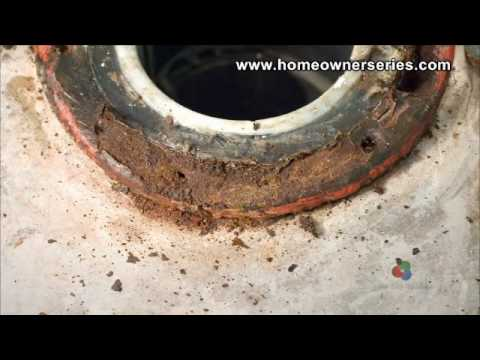 How to Fix a Toilet - Cement Sub-Flooring Repairs - Part 1 of 2