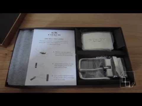 Unboxing Coach Leather Belt: Cut to Size 4 in 1 Leather Coach Fashion Belt Men Black or Brown