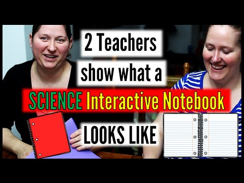What does a science interactive notebook look like?