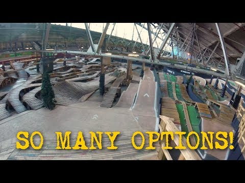EXTREME BIKING IN A WAREHOUSE! - Ray's Indoor MTB Park in Cleveland, Ohio