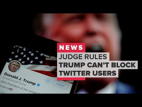 Judge rules Trump can't block twitter users (CNET News)