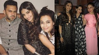 Kareena Kapoor Khan and Sonam Kapoor party with Anand Ahuja for Veere di wedding success !