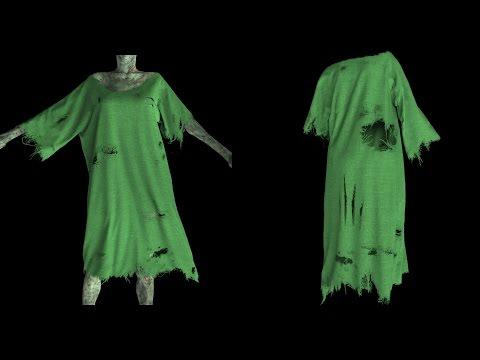 Keyshot Rendering Tutorial for Marvelous Designer Tattered Zombie Costume