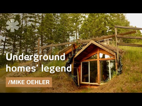 Idaho modern oldtimer builds underground & solar $50 houses