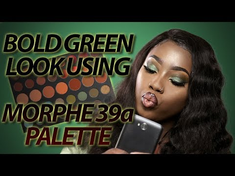 Morphe 39a Palette Tutorial: Bold Green Look (SLAYED)