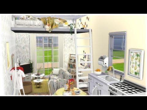 The Sims 4: Speed Build // TINY LOFT HOUSE + CC LINKS