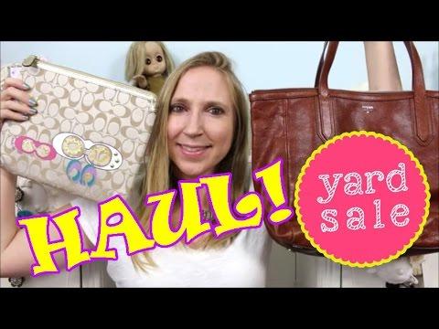 YARD SALE HAUL! Fossil Purse $3 Coach, Jewelry, Beauty + Super Bargains!