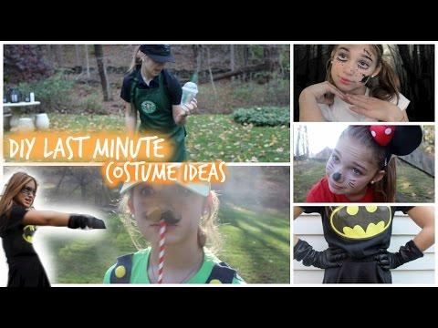 DIY Last Minute Costume Ideas! ♡ Starbucks Barista, Mario and Luigi, & More!