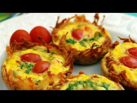 Potato Cup Frittata - How to Make Potato Cup Frittatas - Muffin Pan Frittatas