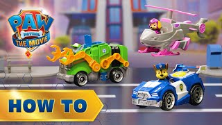 PAW Patrol Movie Deluxe Vehicles! 🐶 How To Play