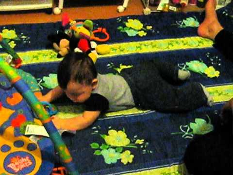 Baby exercise for crawling
