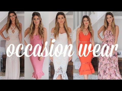ASOS PLT MISSGUIDED OCCASION DRESSES HAUL & TRY ON - Wedding guest outfit ideas on a budget