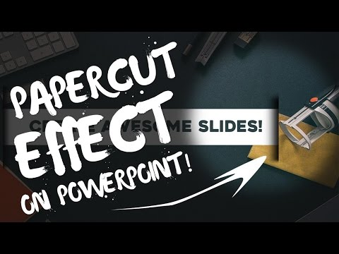 Paper Cut Effect! Professional Powerpoint Slide Design! PowerPoint Pro Tutorial