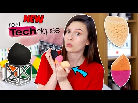 TESTING 3 NEW REAL TECHNIQUES SPONGES! | First Impressions & Review