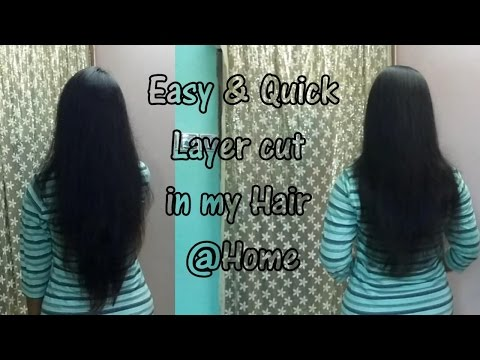 Easy & Quick Layer cut in your own hair @home