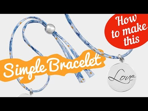 How to make this Liberty Mitsi Valeria A bracelet | Simple bracelet