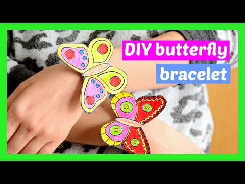 How to Make Butterfly Paper Bracelets