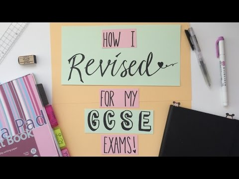How I Revised For My GCSE Exams   A/A* Tips